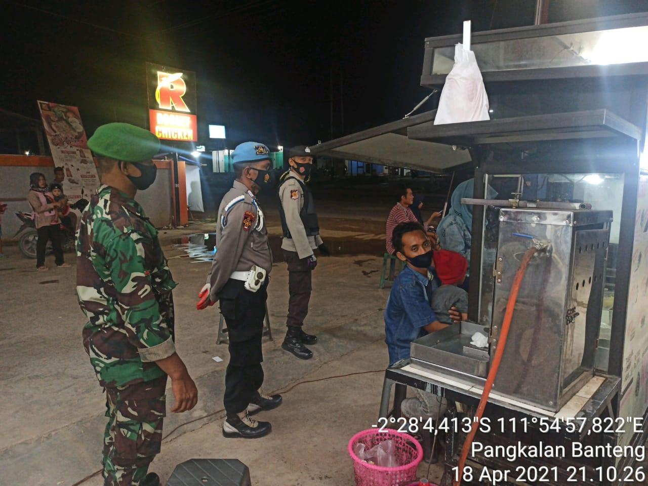 Patroli Gabungan TNI-POLRI dan Trantib Kecamatan Laksanakan Operasi Protokol Kesehatan