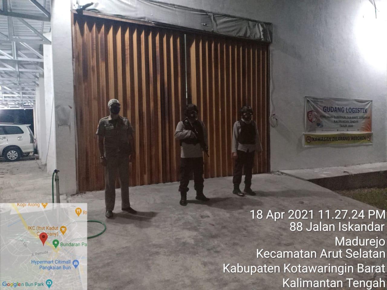 Anggota Pos PAM KPU Laksanakan Patroli Rutin
