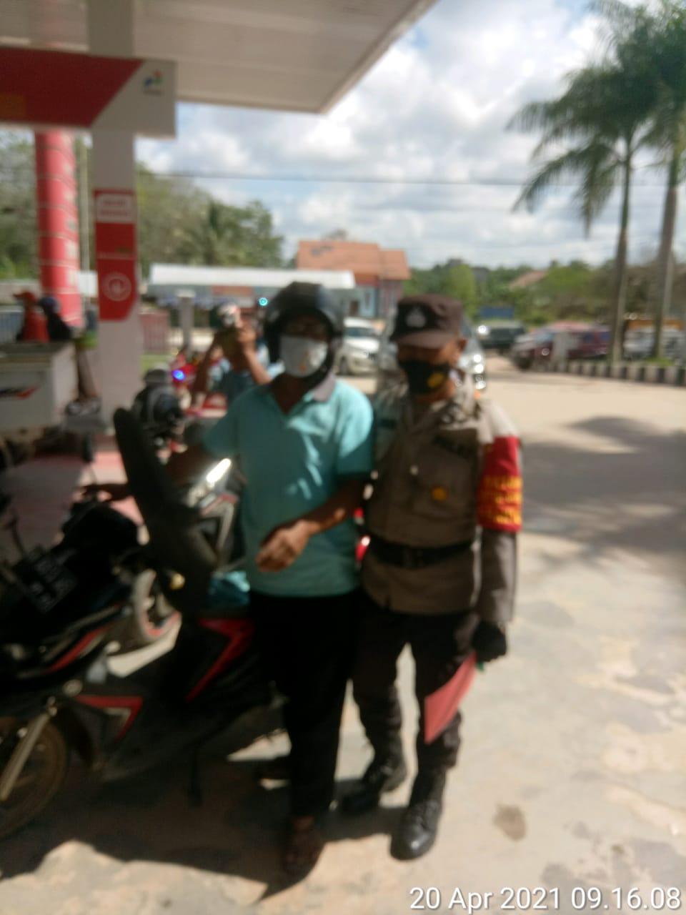 Justisi siang di ruas jalan dan pasar Karang Mulya, TNI-POLRI dan Trantib Kecamatan tindak tegas