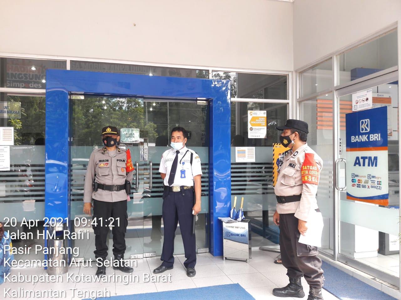 Polsek Arsel Rutin Patroli Ke Tempat Objek Vital/ BRI Seputaran Kota Pangkalanbun