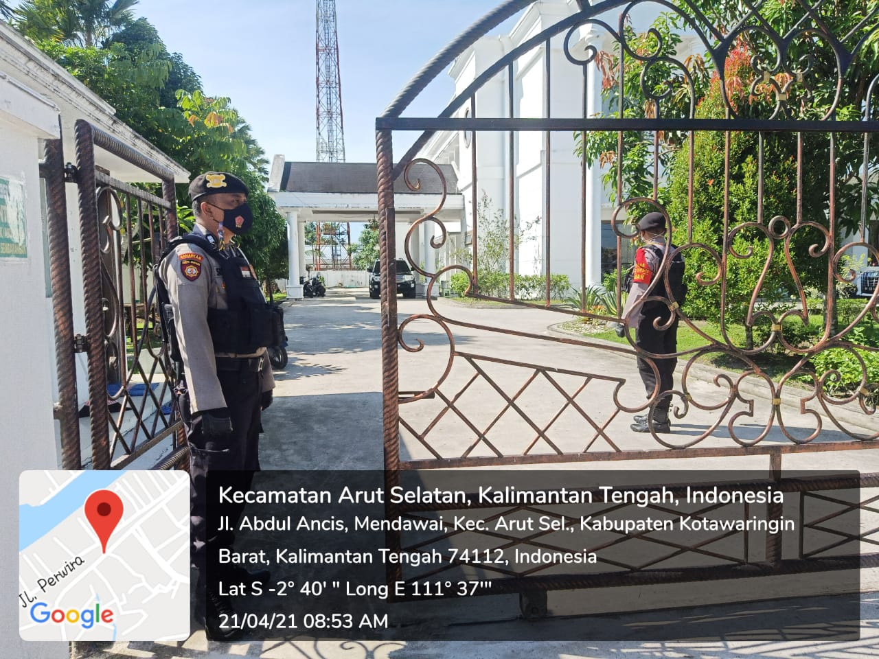 Rumah Cagub Kalteng didatangi Polisi Kobar