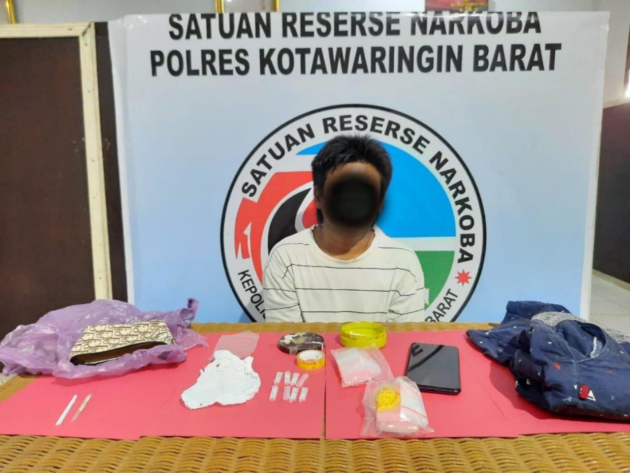 Kerap Kali Transaksi Jual Beli Narkoba Seorang Pria Buruh Harian Lepas Diciduk Satresnarkoba Polres Kobar