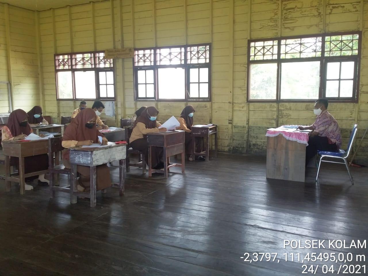 Hari ke 6 pelaksanaan ujian sekolah di Kecamatan Kotawaringin Lama