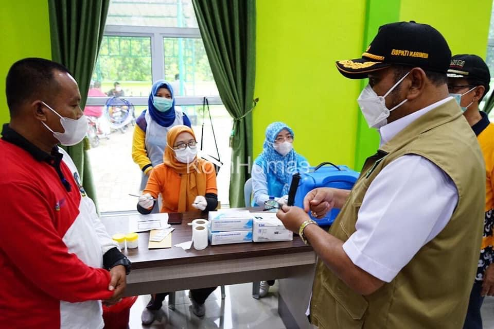Bupati Karimun Tinjau Tempat Isolasi Mandiri & Tempat Vaksinasi Di Kundur