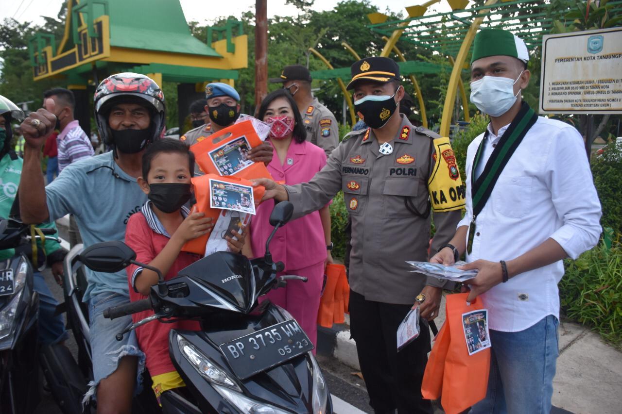 Kapolres Tanjungpinang & HMI Himbau Masyarakat Tidak Mudik