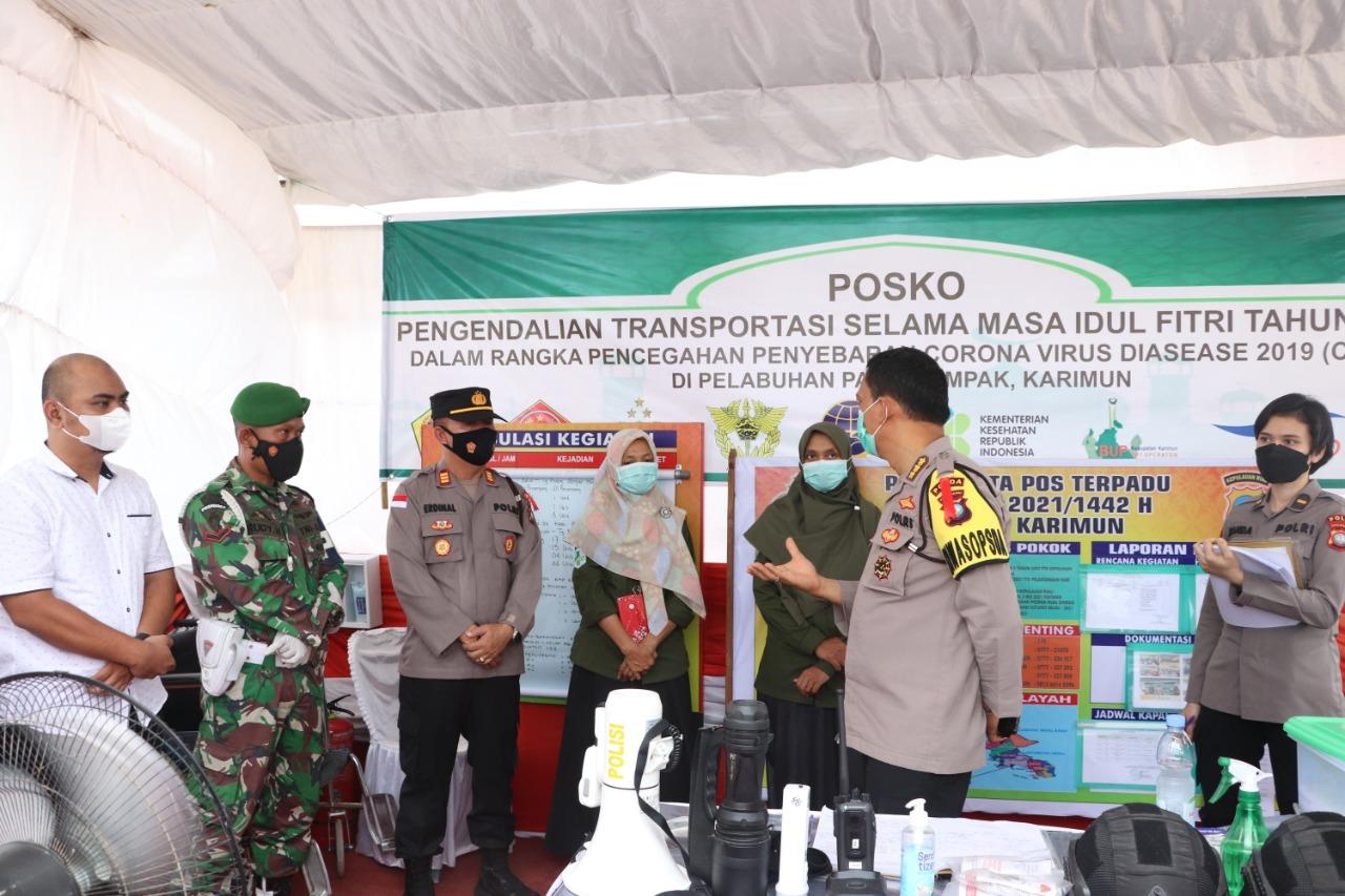 Irwasda Polda Kepri lakukan Was Ops Ketupat Seligi 2021