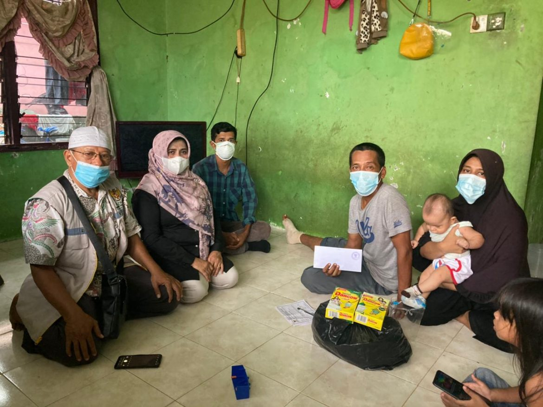 Hari Libur Rahma Bersama Baznas Tetap Beri Bantuan keliling Tanjungpinang