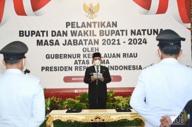 Gubernur Kepri Lantik Bupati & Wabup Natuna