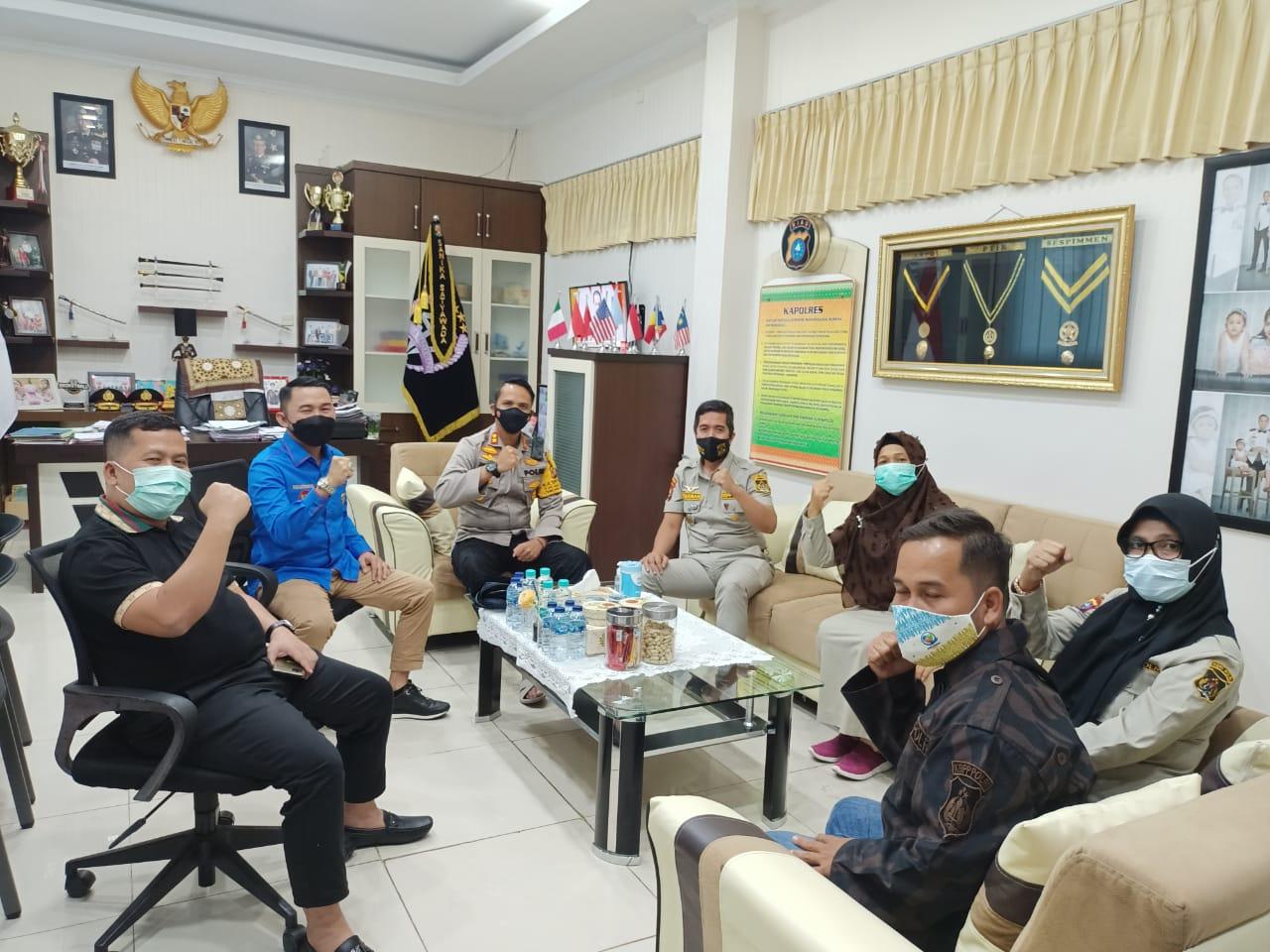 Lonjakan Kasus Corona Tinggi, Kapolres Dumai Minta KNPI Riau, Dumai dan KBPPP Jadi Garda Terdepan Cegah Penyebaran Covid – 19