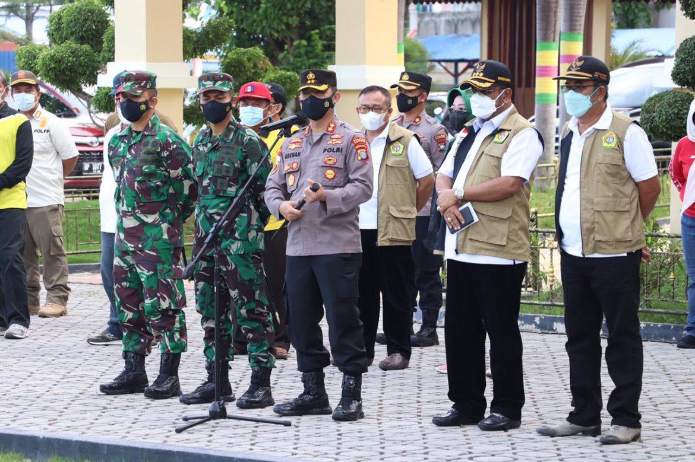 Polres Karimun bersama TNI dan Pemkab Karimun Gelar Apel Siaga Percepatan Penanganan Covid-19 Dan Percepatan Vaksinasi