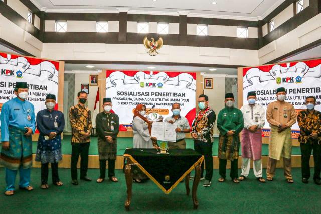 KPK bersama Pemko Tanjungpinang Gelar Sosialisasi Penertiban PSU