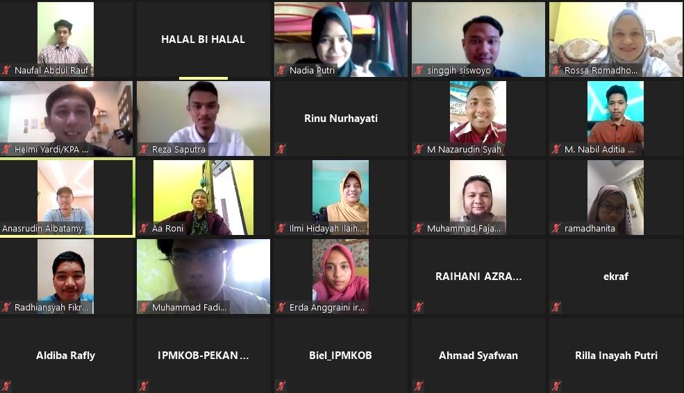 Rekatkan Kekeluargaan Bersama Pengurus dan Alumni IPMKOB-Pekanbaru Laksanakan Silaturahmi Secara Daring