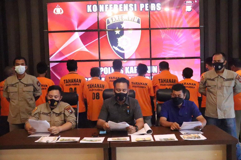 10 Orang diamankan Tim Bison Satreskrim Polres Karimun dalam Operasi Premanisme dan Saber Pungli
