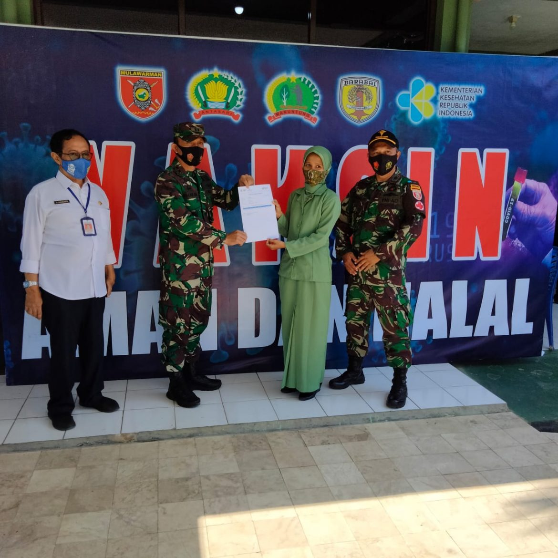 Anggota Persit Dan Keluarga Besar TNI Divaksin Astra Zeneca