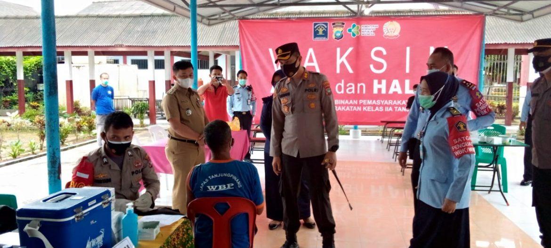 Polres Bintan Laksanakan Kegiatan Gerai Vaksinasi Presisi Di Lembaga Pemasyarakatan Kelas II A Tanjungpinang