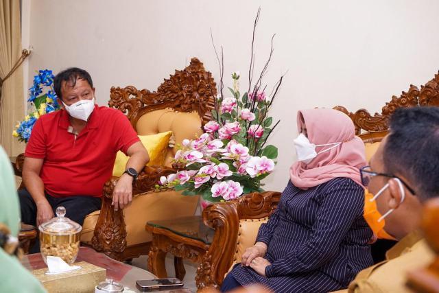 Jelang Tinjauan Vaksinasi Oleh Presiden, Kabinda Kepri Kunjungi Walikota Tanjungpinang