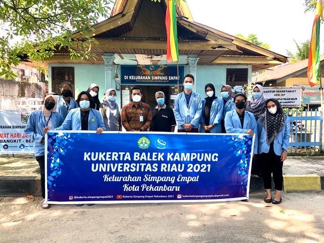 Penyambutan Mahasiswa Kukerta Balek Kampung Unri 2021 di Kelurahan Simpang Empat Pekanbaru