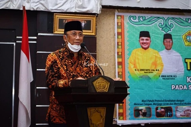 Wakil Bupati Karimun H. Anwar Hasyim, M.Si membuka secara resmi Training Center (TC) Kafilah Kabupaten Karimun pada STQH IX Tingkat Provinsi Kepri Tahun 2021.