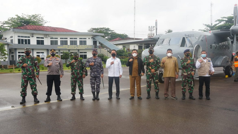 PANGKALAN UDARA TNI AL TANJUNGPINANG MENDUKUNG KEGIATAN KUNKER FORKOPIMDA PROV. KEPRI KE KAB. NATUNA