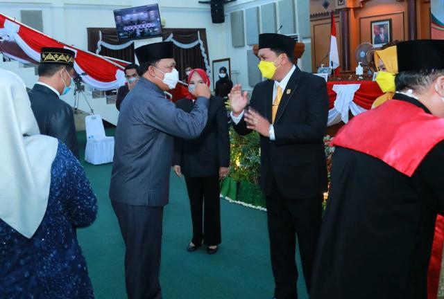 Wawako Ucapkan Selamat Kepada Pimpinan & Anggota DPRD Yang Baru
