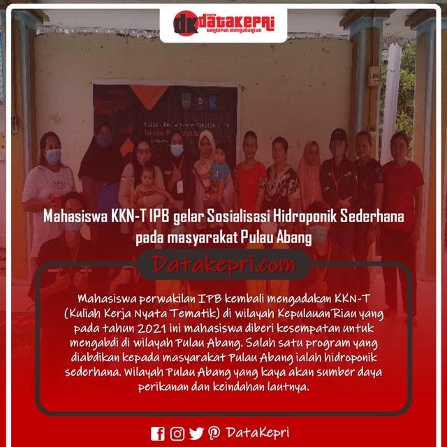 Mahasiswa KKN-T IPB Gelar Sosialisasi Hidroponik Sederhana kepada Masyarakat Pulau Abang