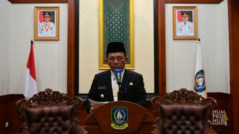 Gubernur Ansar Berbicara pada Webinar Sertifikasi dan Pengembangan Usaha Halal