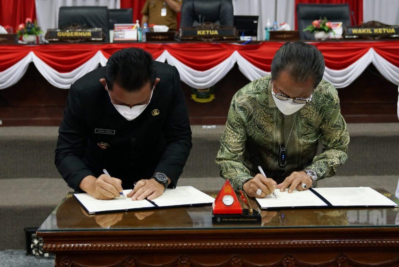 Pemprov & DPRD Teken Nota Kesepakatan Perubahan KUA-PPAS, Pengurangan Capai 68,2 M