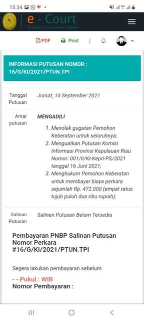 Banding di PTUN, Pemko Tanjungpinang Kalah Lagi
