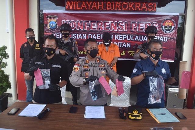 Residivis Narkoba Kembali Diringkus Satnarkoba Polres Bintan