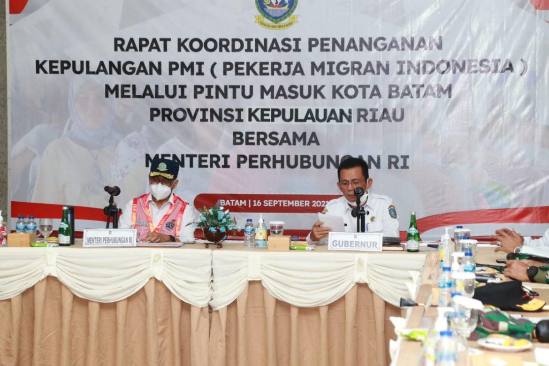 Gubernur Kepri & Mentri Perhubungan Gelar Rakor Bahas Pemulangan PMI di Batam